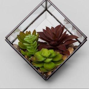 Artificial succulent in Terrarium